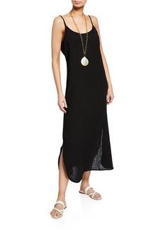 Eileen Fisher Lofty Organic Cotton Maxi Slip Dress