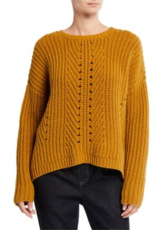 Eileen Fisher Lofty Recycled Cashmere Stitch Sweater