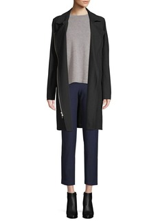 Eileen Fisher Long Asymmetric-Zip Jacket