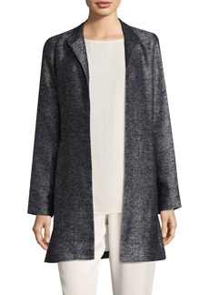 Eileen Fisher Long Open-Front Jacket