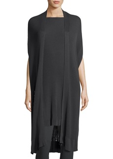 Eileen Fisher Long Sleek Tencel® Ribbed Kimono Cardigan