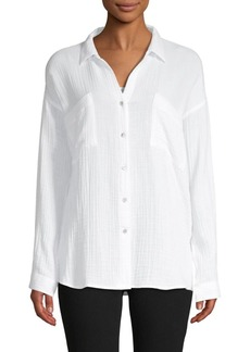 Eileen Fisher Long-Sleeve Cotton Shirt