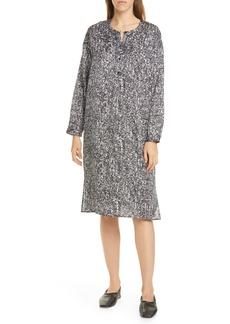 Eileen Fisher Long Sleeve Henley Dress