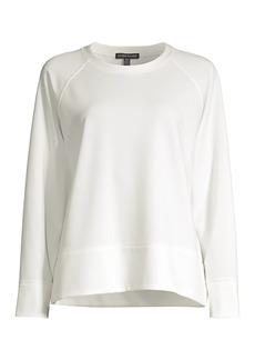 Eileen Fisher Long-Sleeve Jersey Knit Top
