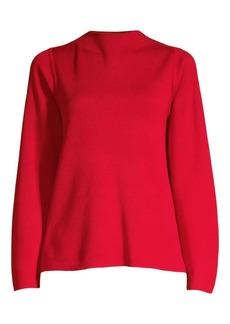 Eileen Fisher Long Sleeve Silk & Organic Cotton Top