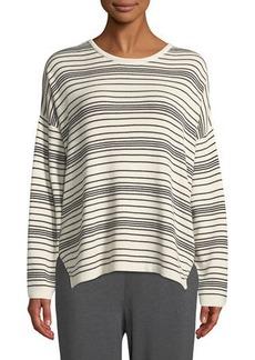 Eileen Fisher Long-Sleeve Striped Organic Cotton Sweater