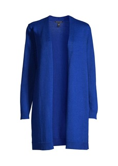 Eileen Fisher Longline Open-Front Cardigan Sweater