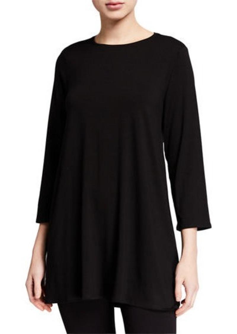 Eileen Fisher Lyocell Jersey 3/4-Sleeve Swing Tunic