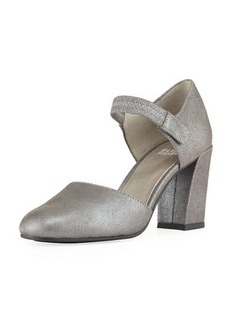 Eileen Fisher Malta Metallic Suede Mary Jane Pumps