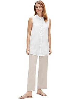 Eileen Fisher Mandarin Collar Sleeveless Shirt