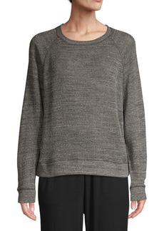 Eileen Fisher Melange Cotton Mesh Pullover