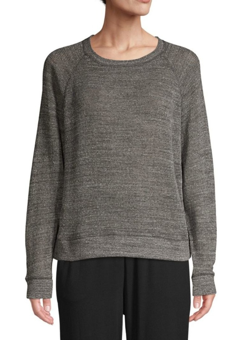 Eileen Fisher Melange Cotton Mesh Pullover