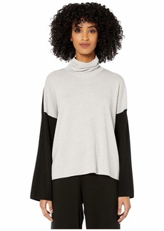 Eileen Fisher Merino Turtleneck Box Top
