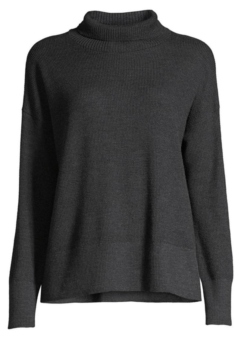 Eileen Fisher Merino Wool Waffle-Stitch Sweater