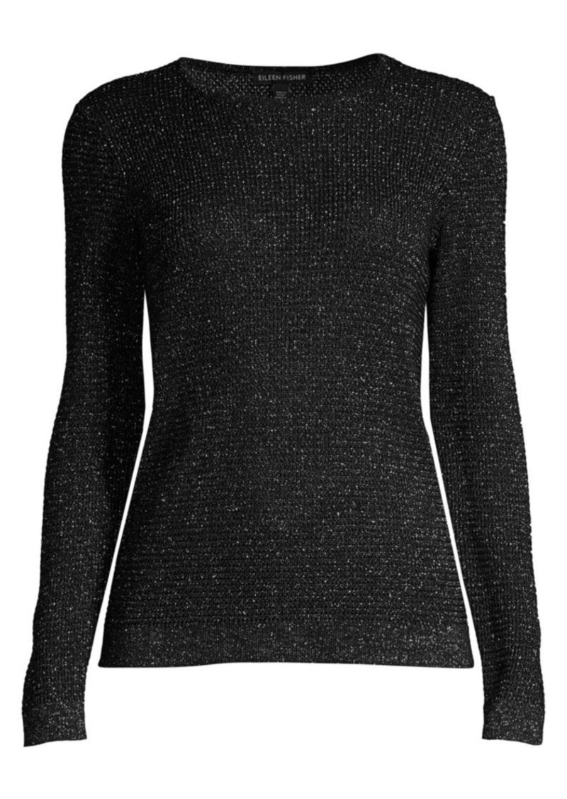 Eileen Fisher Metallic Merino Wool-Blend Sweater