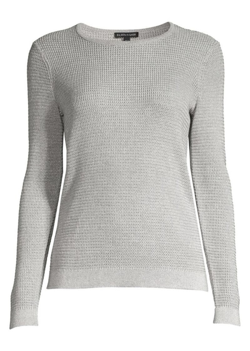 Eileen Fisher Metallic Merino Wool-Blend Sweater