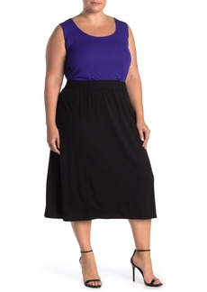 Eileen Fisher Midi A-Line Skirt (Plus Size)