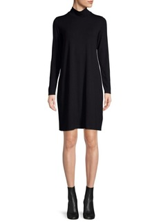 Eileen Fisher Mock Neck Shift Dress