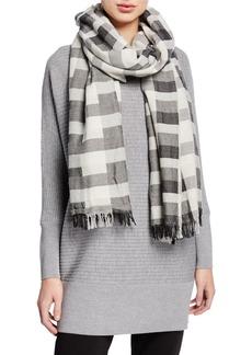 Eileen Fisher Modernist Wool/Organic Cotton Scarf