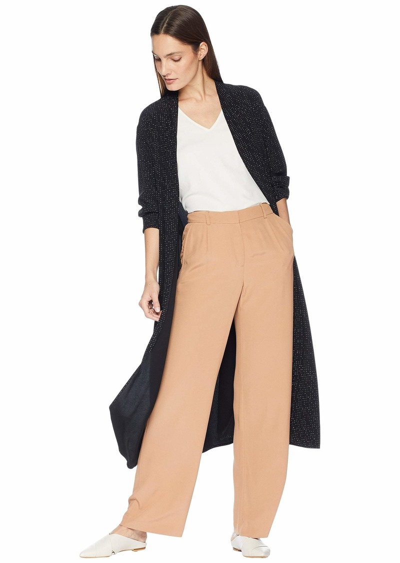 Eileen Fisher Morse Code Kimono Long Jacket with Belt