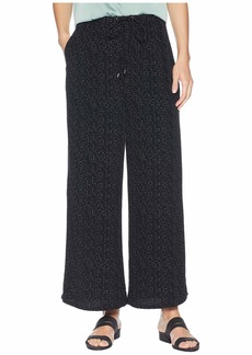 Eileen Fisher Morse Code Wide Leg Cropped Pants