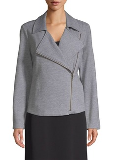 Eileen Fisher Moto Two-Way Zip Jacket