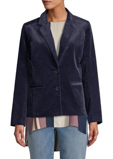 Eileen Fisher Notch Collar Shaped Jacket