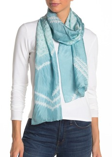 Eileen Fisher Oblong Tie Dye Silk Scarf