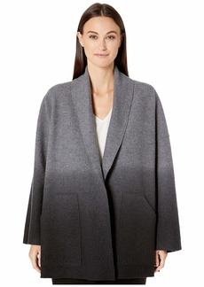 Eileen Fisher Ombre Boiled Wool Shawl Collar Kimono Jacket