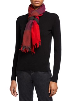 Eileen Fisher Ombre Maxi-Check Scarf