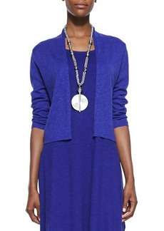 Eileen Fisher Open-Front Cropped Straight Cardigan