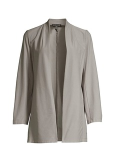 Eileen Fisher Open-Front Long Jacket