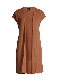 Eileen Fisher Open-Front Long Vest