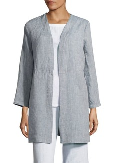 Eileen Fisher Open-Front Organic Linen Jacket