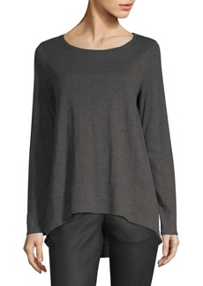Eileen Fisher Organic Cotton Ballet Neck Top