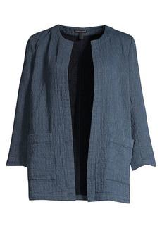 Eileen Fisher Organic Cotton-Blend Open-Front Jacket