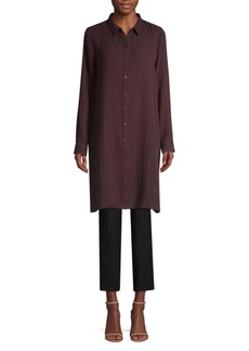 Eileen Fisher Organic Cotton Button-Down Tunic