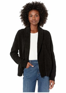 Eileen Fisher Organic Cotton Chenille Shawl Collar Cardigan