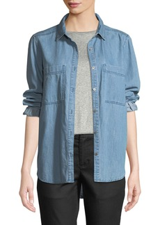 Eileen Fisher Organic Cotton Denim Pocket Shirt