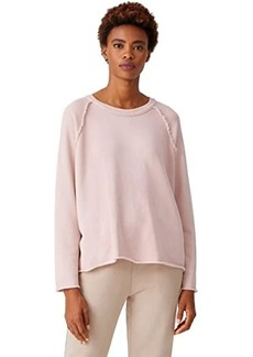 Eileen Fisher Organic Cotton French Terry Boxy Crew