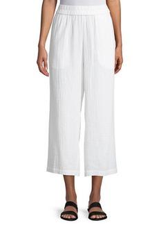 Eileen Fisher Organic Cotton Gauze Straight-Leg Pants