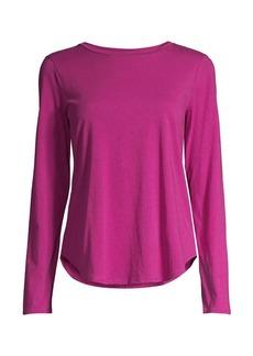 Eileen Fisher Organic Cotton Jersey Shirttail-Hem Top