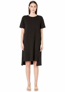 Eileen Fisher Organic Cotton Jersey Short Sleeve Dress