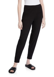 Eileen Fisher Organic Cotton Jersey Tapered Ankle Pants
