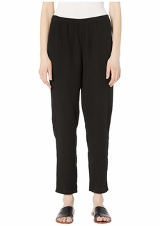Eileen Fisher Organic Cotton Lofty Gauze Tapered Ankle Pants