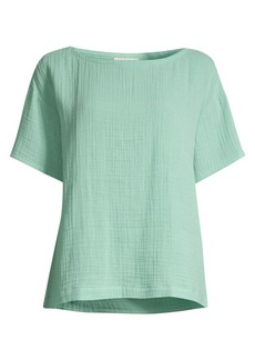 Eileen Fisher Organic Cotton Lofty Short-Sleeve Top