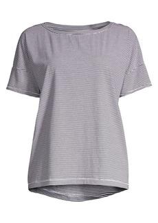 Eileen Fisher Organic Cotton Mini-Stripe Tee