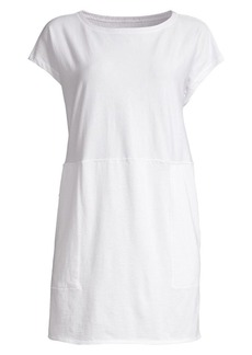 Eileen Fisher Organic Cotton Mini Stripe Tunic Dress