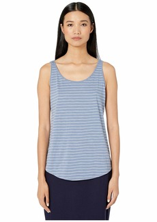 Eileen Fisher Organic Cotton Slub Stripe Scoop Neck Tank