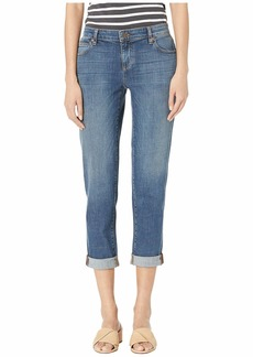 Eileen Fisher Organic Cotton Stretch Boyfriend Jeans in Aged Indigo